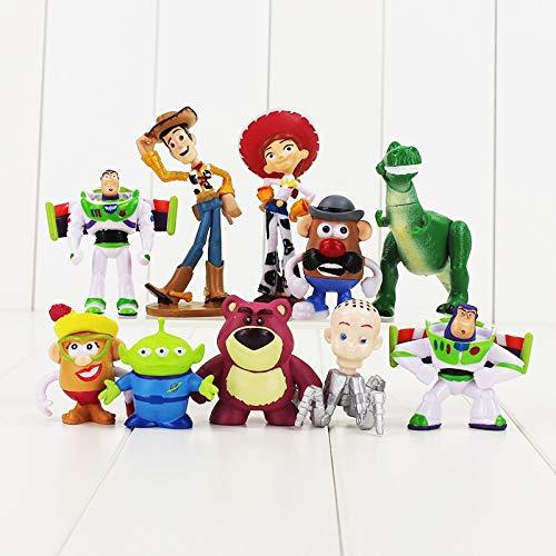 10 Teile/los Toy Story Figur Spielzeug Buzz Lightyear Woody Jessie Rex Mr Kartoffelkopf Lotso Little Alien Mini Baby Spielzeug