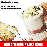 RX buttermühle|Käsereibe|Käsemühle Edelstahl|Parmesanschneider manuelle Küchenhelfer Käseschneider Maschine für Käse und Butter