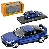 Minichamps Honda CR-X ED9 Coupe Blau 2. Generation 1987-1991 1/43 Modell Auto