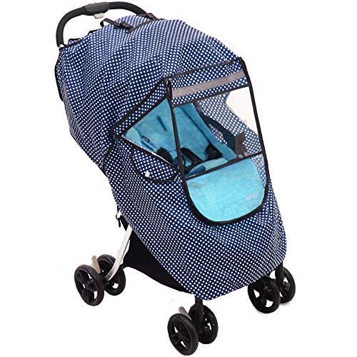 Baby products Universal-Kinderwagen Regen Abdeckung, atmungsaktiv windabweisend warme Staubschutzhülle, Sportkinderwagen wasserdicht Regenmantel für alle Arten von Kinderwagen ZDDAB
