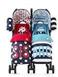 Cosatto Supa Dupa Twin Stroller Sis and Bro 4 - Medium