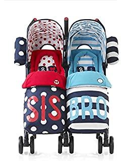Cosatto Supa Dupa Twin Stroller Sis and Bro 4 - Medium