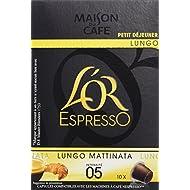 L'OR ESPRESSO Lungo Mattinata 10 capsules compatibles avec les machines à café Nespresso - Lot de 4 (40 capsules)