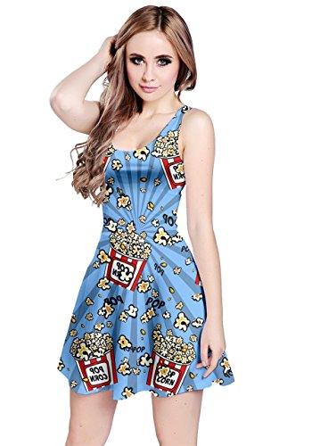 CowCow Damen Kleid violett violett Gr. XXXXX-Large, Sky Blue (Pop Art Kleid)