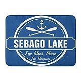 Kinhevao Tappetino da Bagno Raymond Sebago Lake Maine Personalized Town And Name Tappeto Decorativo da Bagno Frye