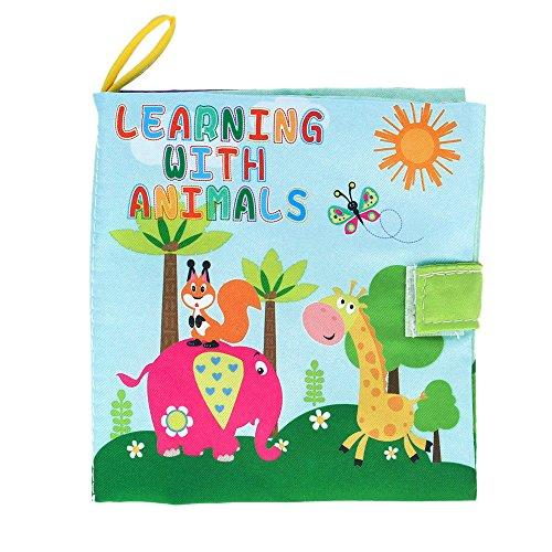 Goolsky Tessuto prima di Coolplay Baby di prenotare lavabile panno morbido libro Squeak Rattle Crinkle giocattolo Toddler Infant Learning animali