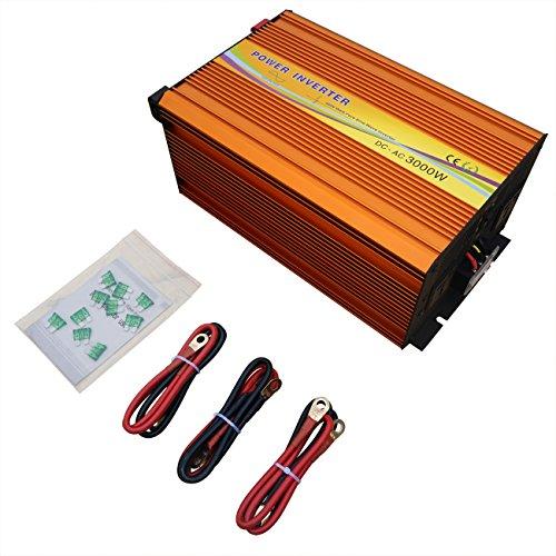 Eco-Worthy 3000 W 12 V 24 V Convertisseur à signal sinusoïdal 220 V DC Convertisseur hors réseau Avec fonction MPPT