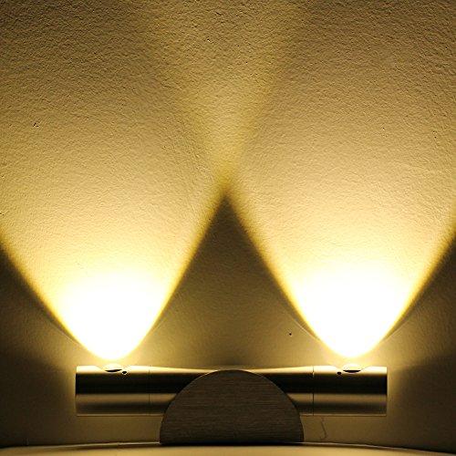 6W 360°drehbare Wandleuchte Wandlampe [Energieklasse A+] (Warmweiß 6W) - 6