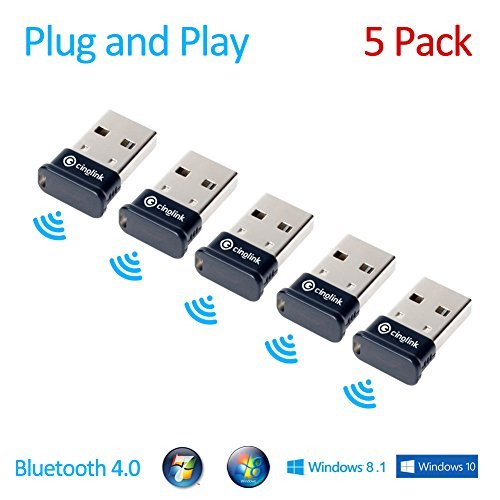 cinolinkr-5-pack-bluetooth-40-usb-adapter-for-windows-linux-mac-plug-and-play-class-1-50-meter-aptx