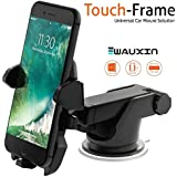 WAUXIN Quick One Touch Car Mount Holder with Adjustable Dashboard and Wind Shield, 360 Degree Rotation, Extendable Arm and Strong Sticky Gel Pad
