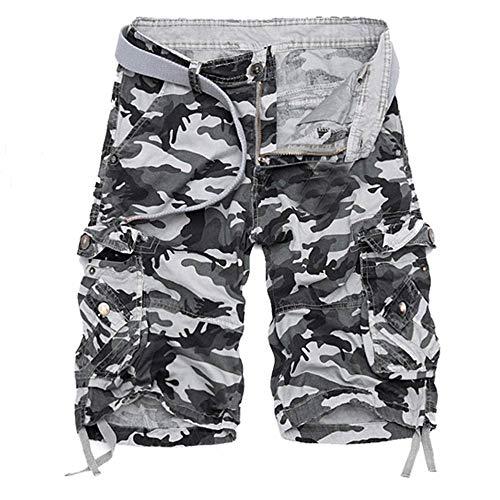 Beonzale Herren Sweat Shorts Kurze Hose Jeans Bermuda Denim Sweatpants Cargo Jogging Jeans Vintage Cargo Shorts Urban Camo Bdu
