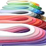 Juya Papier Quilling Set bis zu 42 Farben eine Farbe und 100 Streifen pro Packung 3/5/7/10mm Breite verfügbar(42 Farben, Breite 3mm)