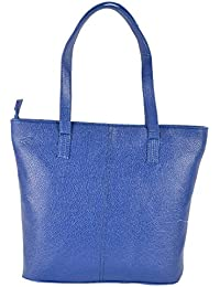 Preeti PU Blue Tote Hand Bag For Women