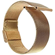Buwico® 18/20/22/24mm reloj de acero inoxidable de malla Pulseras correas banda de repuesto