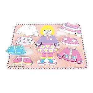 Bigjigs Toys - Puzzle para niña (Madera)