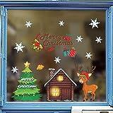 Frohe weihnachtsbaum rentier wandaufkleber für kinderzimmer fenster wohnkulturneue jahr wandpvc geschenke 65x46 cm