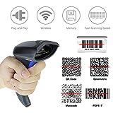 NETUM 2D QR Wireless Barcode Scanner Handheld Bar-code Scanner Imager Handheld mit USB-Kabel USB-Anschluss Lesen von Barcodes für PC Mac / Windows NT-W8