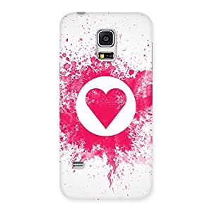 Delighted Splash Heart Back Case Cover for Galaxy S5 Mini
