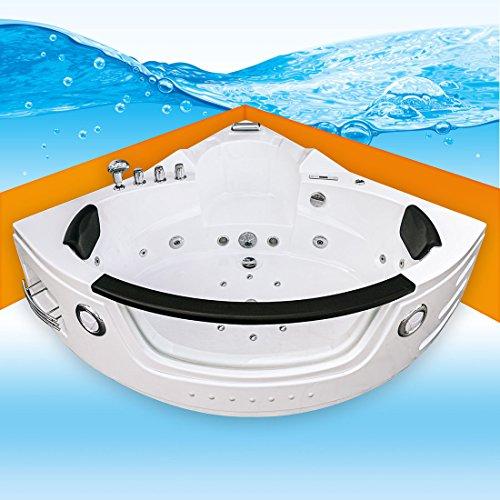 Whirlpool Pool Badewanne Eckwanne Wanne A1505H-ALL 140x140cm Reinigungsfunktion, Selfclean:aktive Schlauch-Reinigung +90.-EUR Der Wasserfall Am Pool Pumpe