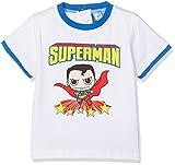 DC Comics Superman, Maglietta Bimbo, Blu (Blue Blue), 3-6 Mesi (Taglia Produttore:6 Mesi)