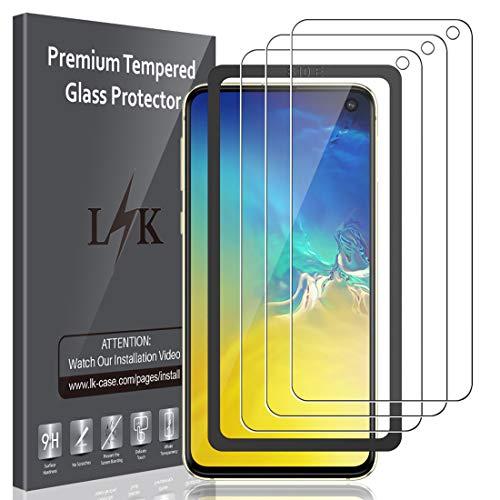 LK [3 Pack] Vetro Temperato per Samsung Galaxy S10e, [Installazione Semplice Cornice allineamento] Protezione Schermo Pellicola Protettiva Screen Protector [Garanzia di Sostituzione a Vita]