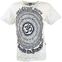 Camiseta Guru de Mandala en blanco y negro. Disponible en múltiples tallas.