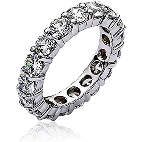 Bling Jewelry Impilabile sereno CZ Eternity Wedding Band Ring Sterling Silver