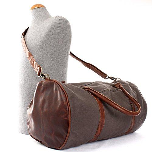 3835b0b336012f ... LECONI Reisetasche für Damen & Herren Ledertasche Weekender groß  Sporttasche Männer + Frauen Handgepäck Sporttasche echtes