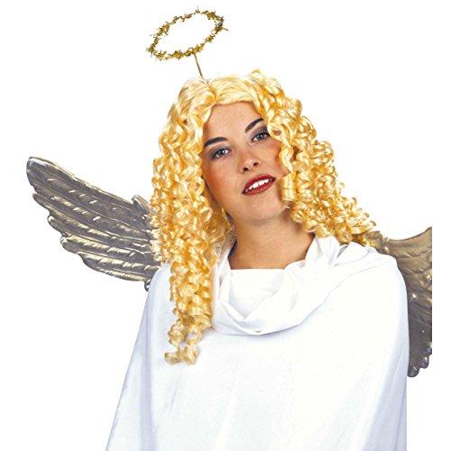 Blonde Engelsperücke mit Locken Perücke Engel Engelperücke blond Engelsperücken Weihnachtsperücke Weihnachten