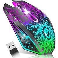 VersionTECH. Souris Gamer sans Fil, Récepteur Nano USB 2.4G, Souris sans Fil Suivi Optique 1600 PPP, Clic Muet, 6…