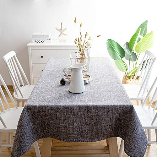 WENXIAOXU Antipolvere Lavabile Tavolo da Cucina Rettangolare Copertura per Tavolo da Pranzo Tovaglia Trattamento Antimacchia Facile da Pulire Lavabile,semplicità di Colore Solido B-3 120 * 180cm