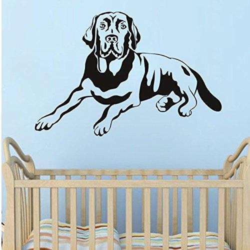 kuamai Süßer Hund Golden Retriever Vinyl Tapetensticker Home Decor Wohnzimmer Schlafzimmer Kunst Wallpaper Abnehmbare Wand Aufkleber
