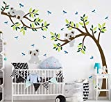 Sayala Koala Arbre Stickers Muraux - Mon-Baby-Dad Koala Branches Stickers/Autocollant Adhésif Mural Pour Chambre Enfants Bébé Nursery Room Decor,2.5 * 2mm (Pose)