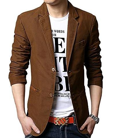Jacket - veste - Homme-Automne et Hiver - Brun 1 - Taille XX-Large