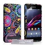 YouSave Accessories SE-HA02-Z444 Etui en silicone gel pour Sony Xperia E1 Motif Jellyfish