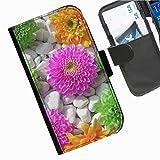 Hairyworm- Blumen Seiten Leder-Schützhülle für das Handy LG G2 (D800, D802/TA, D803, VS980, LS980)