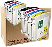 No-name Compatible Ink Cartridge Replacement for HP HP82 82 XL HP82XL 82XLCH565A C4911A C4912A C4913A Designje