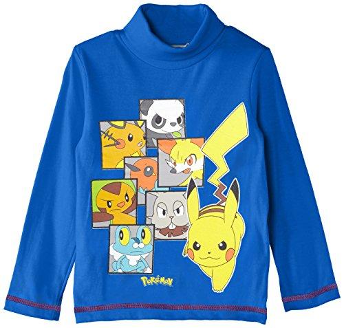 Nintendo Pokemon Nh1351 - Camiseta para niños, Blau (Skydiver Blue),