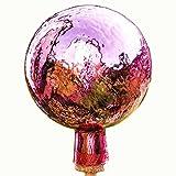 Lauschaer Glaskunst-Gartendeko Thüringer Rosenkugel - 15 cm - Violett Craquelet