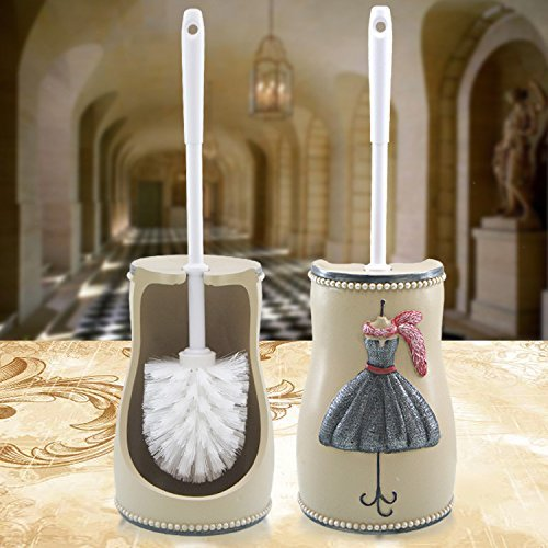 Kreative Wc Bürsten Set Basis Europäischen Fell Waschen Badezimmer Wc-Bürste Wc-Bürste Reinigungsbürste Griff, Paris Zeigen - Wc-bürste Paris