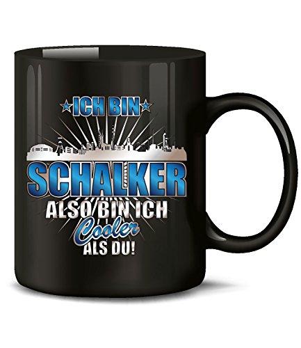 love-all-my-shirts Ich Bin Schalker 4619(Schwarz) Fussball Fan Artikel Tasse Kaffee Becher Pott Geburtstags Geschenk für Papa Ideen Tee mit Spruch Mug Cappuccino