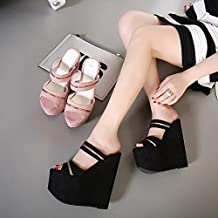 GTVERNH estate sexy lustrini bocca di pesce 15-17cm super - tacchi a spillo sandali scarpe tacco locali notturni scarpe sfilata di modelli…