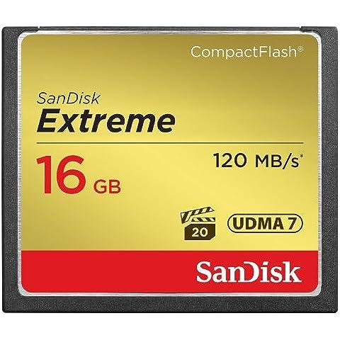 Sandisk 16 Gb - Memoria Compact Flash de 16 GB (udma 7, 120 Mb/s), dorado