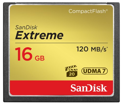 SanDisk Extreme 16GB CompactFlash Memory Card UDMA 7 Speed Up To 120MB/s