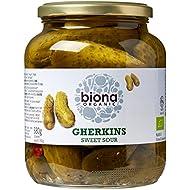 Biona Organic Jarred Gherkins Pickles 680g (Pack of 3)