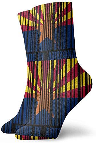 tyui7 Personalisierte Arizona-Barcode-Flaggen-Socken-bunte Spaß-Sport-athletische Strümpfe für Mann-Frauen