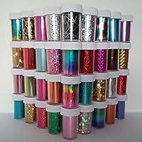 100 x Nail Art Wrap Foils Transfer Glitter Sticker Polish Decal Decoration