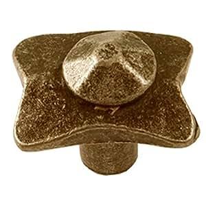 Sofoc 8773629 Feodale Bouton de Porte et Tiroir de Meuble Rustique Métal Bronze 3,1 x 2,9 x 2,4 cm