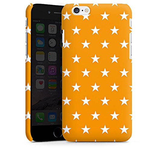 Apple iPhone 5 Housse Outdoor Étui militaire Coque Étoiles Orange Motif Cas Premium mat