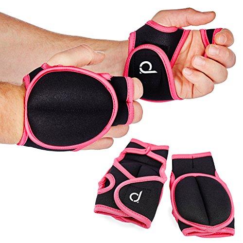 Andrew James 0,5kg Trainingshandschuhe mit Gewichten aus Neopren in Pink – Gesamtgewicht 1kg
